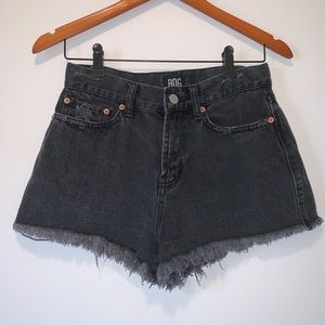 Black Distressed BDG High Waisted Shorts (26)